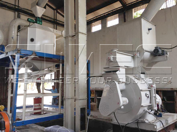 simec-spm780-pellet-mill-and-skln-14x14-pellet-cooler